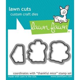 Lawn Fawn thankful mice - lawn cuts