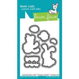 Lawn Fawn happy easter - lawn cuts