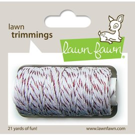 Lawn Fawn red sparkle single cord