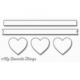 My Favourite Things Hearts in a row - horizontal - die-namics