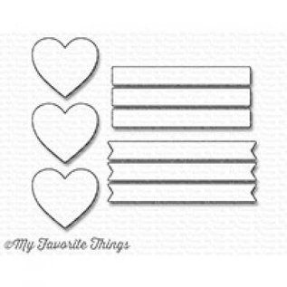My Favourite Things Hearts in a row - vertical - die-namics