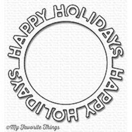 My Favourite Things Happy holidays circle frame die-namics