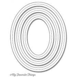My Favourite Things Single stitch line oval frames Die-namics