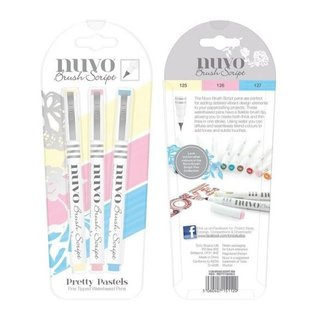 Nuvo Nuvo brush script pens pretty pastels