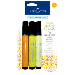 Faber Castell Faber Castell Mix & Match Collection - Stampers Big Brush Pens - Yellow