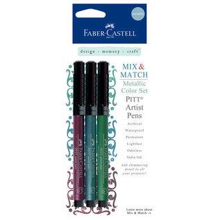Faber Castell Faber Castell Mix & Match Collection - Pitt Artist Pens - Metallic