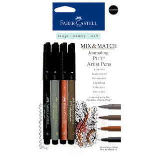 Faber Castell Faber Castell Mix & Match Collection - Pitt Artist Pens - Journaling