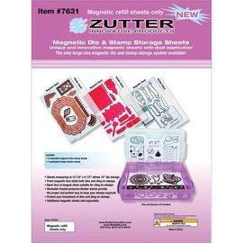 "Zutter Zutter Magnetic Die & Stamp Storage Refill Sheets 3 st.12.-25""X8.5"""