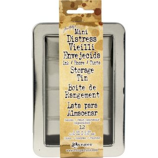 Ranger Mini Distress Ink Storage Tin - Empty