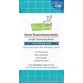 "Lawn Fawn Lawn Fawn Acrylic Stamping Block W/Grid 3""X6"""
