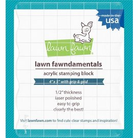"Lawn Fawn Lawn Fawn Acrylic Stamping Block W/Grid 4""X5"""