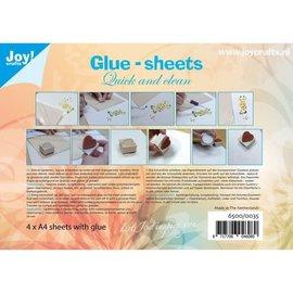 Joy! crafts Joy!Crafts lijmvellen A4 x4 micro dotjes snel en schoon