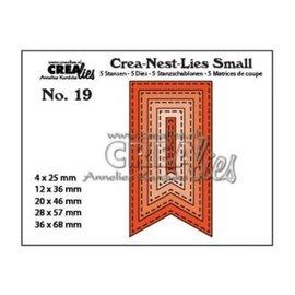 CreaLies Crea-Nest-Lies • Small snijmallen no.19 vaandels stiklijn x5