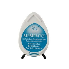 Tsukineko Memento dew drop ink pad bahama blue