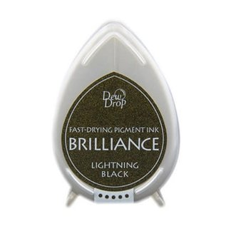 Tsukineko Brilliance dew drop ink pad lightning black