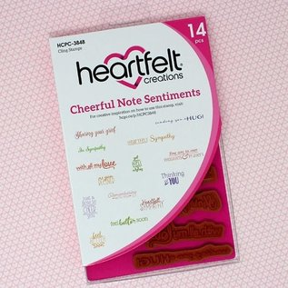 Heartfelt Creations Cheerful Note Sentiments Cling Stamp Set