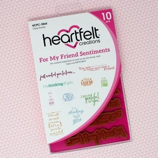 Heartfelt Creations For My Friend Sentiments Cling Stamp Set