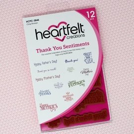 Heartfelt Creations Thank You Sentiments Cling Stamp Set