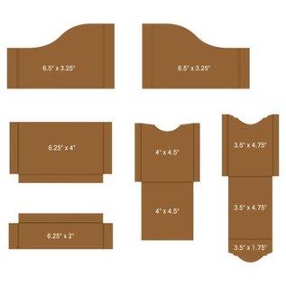 Heartfelt Creations Pocket and Flipfold Inserts A - Kraft