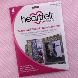 Heartfelt Creations Pocket and Flipfold Inserts B - Kraft