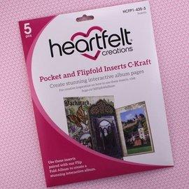 Heartfelt Creations Pocket and Flipfold Inserts C - Kraft
