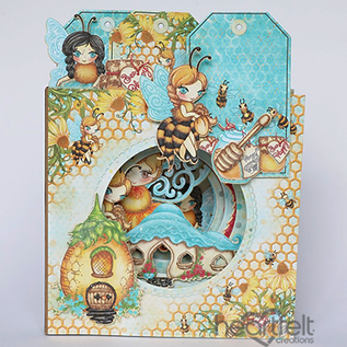 "Heartfelt Creations 6"" x 6"" Layered Circles Card-Black"