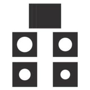 "6"" x 6"" Layered Circles Card-Black"