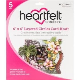 "Heartfelt Creations 6"" x 6"" Layered Circles Card-Kraft"