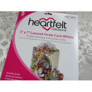 "Heartfelt Creations 5"" x 7"" Layered Ovals Card-White"