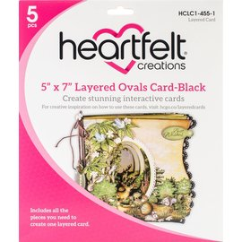 "5"" x 7"" Layered Ovals Card-Black"