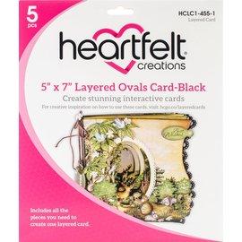 "Heartfelt Creations 5"" x 7"" Layered Ovals Card-Black"