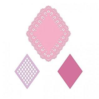 Heartfelt Creations Lacy Diamond Die