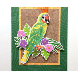 HeroArts Repositionable Rubber Stamps - Tropical Foliage Bold Prints