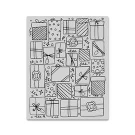 HeroArts Repositionable Rubber Stamps - Presents Background