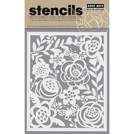 HeroArts Stencils - Bold Floral