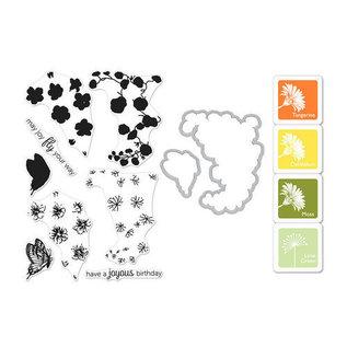 HeroArts Coloring Layering Bundle - Nasturtium stempel+mal+4kleuren