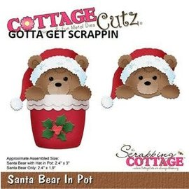 Cottage Cutz CottageCutz SANTA BEAR IN POT