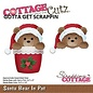 Cottage Cutz CottageCutz SANTA BEAR IN POT