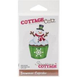 Cottage Cutz CottageCutz Die Snowman Cupcake