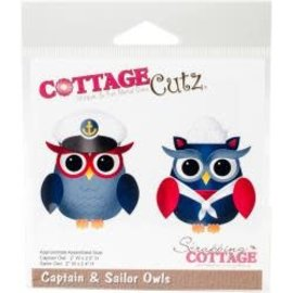 "Cottage Cutz CottageCutz Die Captain & Sailor Owls 2""X2.5"""