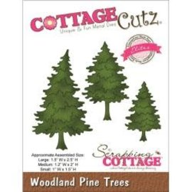 "Cottage Cutz CottageCutz Elites Die Woodland Pine Trees 1""X1.5"" To 1.5""X2.5"""