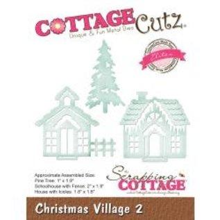 """Cottage Cutz CottageCutz Elites Die Christmas Village 2 1.8"""" To 2"""""""