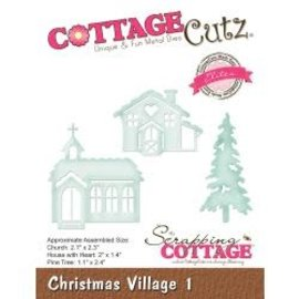 "Cottage Cutz CottageCutz Elites Die Christmas Village 1 1.1"" To 2.4"""