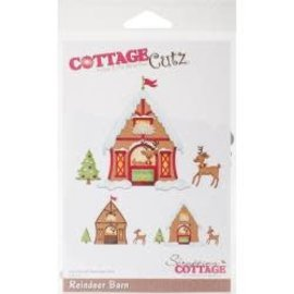 """Cottage Cutz CottageCutz Dies Reindeer Barn 3.8""""X3"""""""