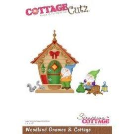 """Cottage Cutz CottageCutz Dies Woodland Gnomes & Cottage 2.9""""X3.5"""""""