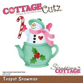 "Cottage Cutz CottageCutz Dies Teapot Snowman 2.5""X2.9"""