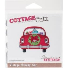 "Cottage Cutz CottageCutz Dies Vintage Holiday Car 3""X2.5"""