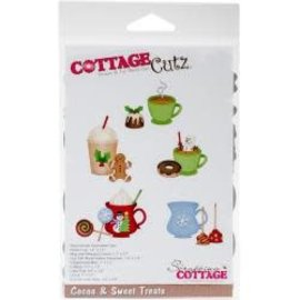 "Cottage Cutz CottageCutz Dies Cocoa & Sweet Treats 1.4"" To 2.4"""