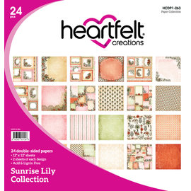 Heartfelt Creations Sunrise Lily  Collection 2x12 double side papers