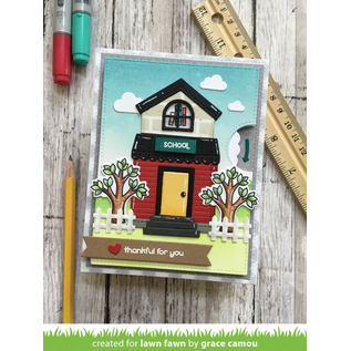 Lawn Fawn Plan On It: School Clear Stamps